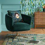 Morpho Swivel Velvet Arm Chair - Opalhouse