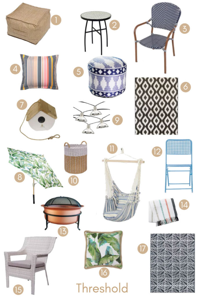 MY LATEST PATIO OBSESSIONS UNDER $150 FROM TARGET